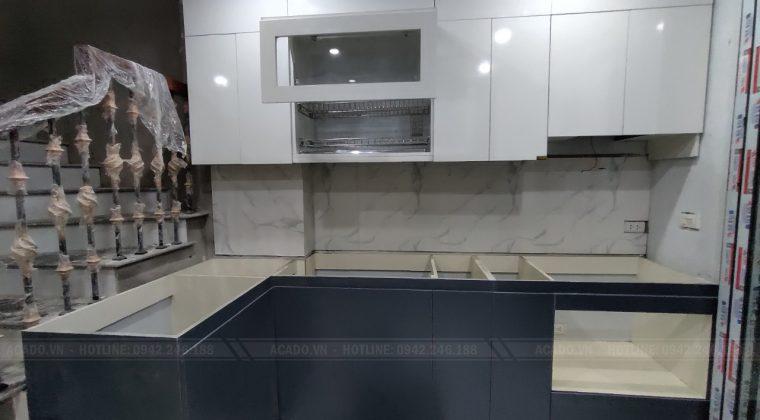 Hoàn thiện quá trình thi công tại Long Biên - Hà Nội. Bàn giao công trình tủ bếp lại cho gia đình ánh Nam