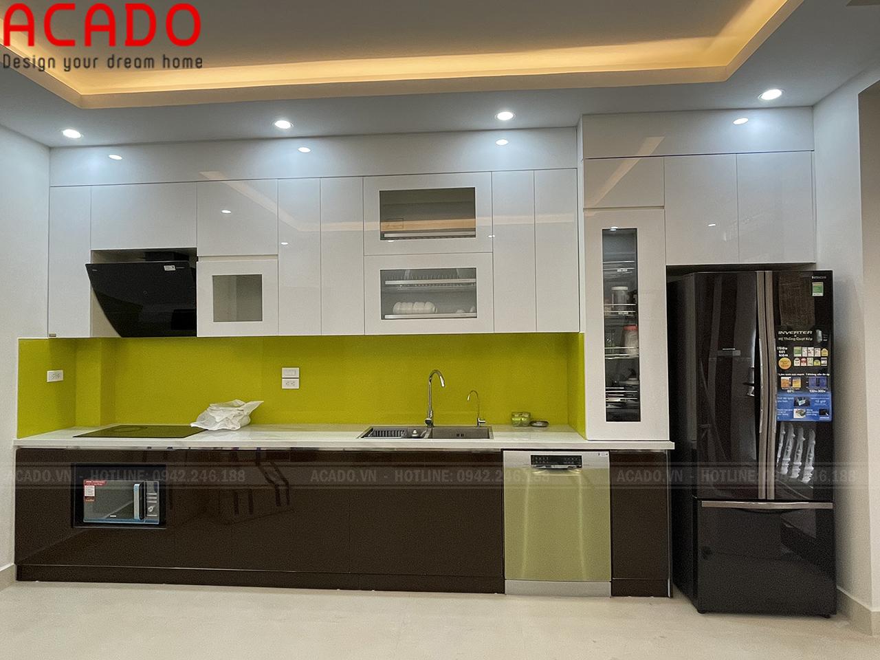 Hoàn thiện thi công tủ bếp cho gia đình chị Hiền tại Văn Quán - Nội thất ACADO