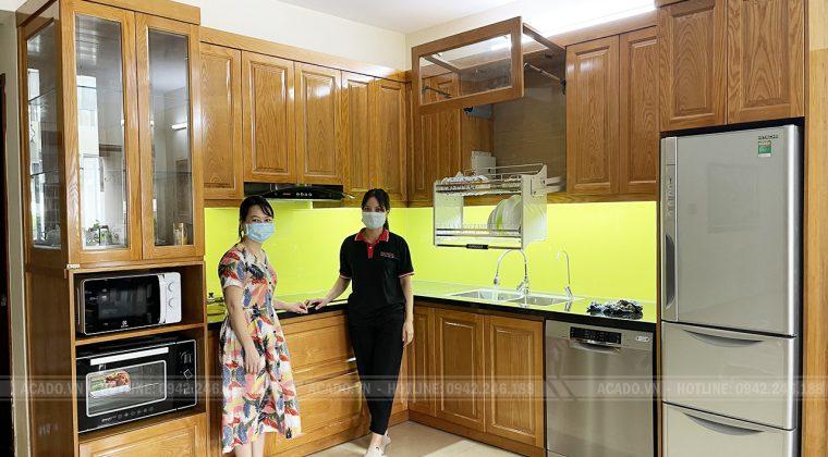 Hoàn thiện tủ bếp cho gia đình chị Thùy và đã hoàn thành quá trình bàn giao tủ bếp