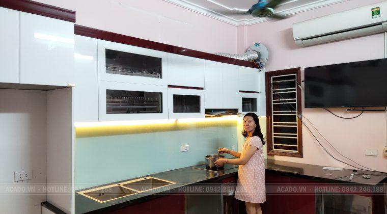 Hoàn thiện tủ bếp cho gia đình anh Hoàn - Cảm ơn Gia đình anh Hoàn đã tin tường và lựa chọn nội thất ACADO