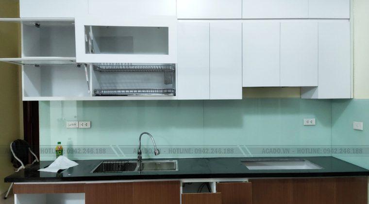 Hoàn thành công trình làm tủ bếp Hoàng Mai - Hà Nội, cho gia đình cô Quỳnhện ích, phù hợp với nhiều không gian bếp
