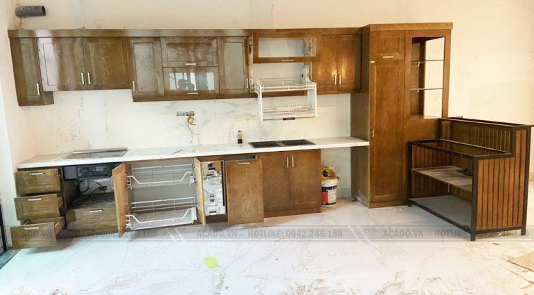 Bề mặt cánh tối giản, mang hơi hướng hiện đại - Làm tủ bếp tại Long Biên