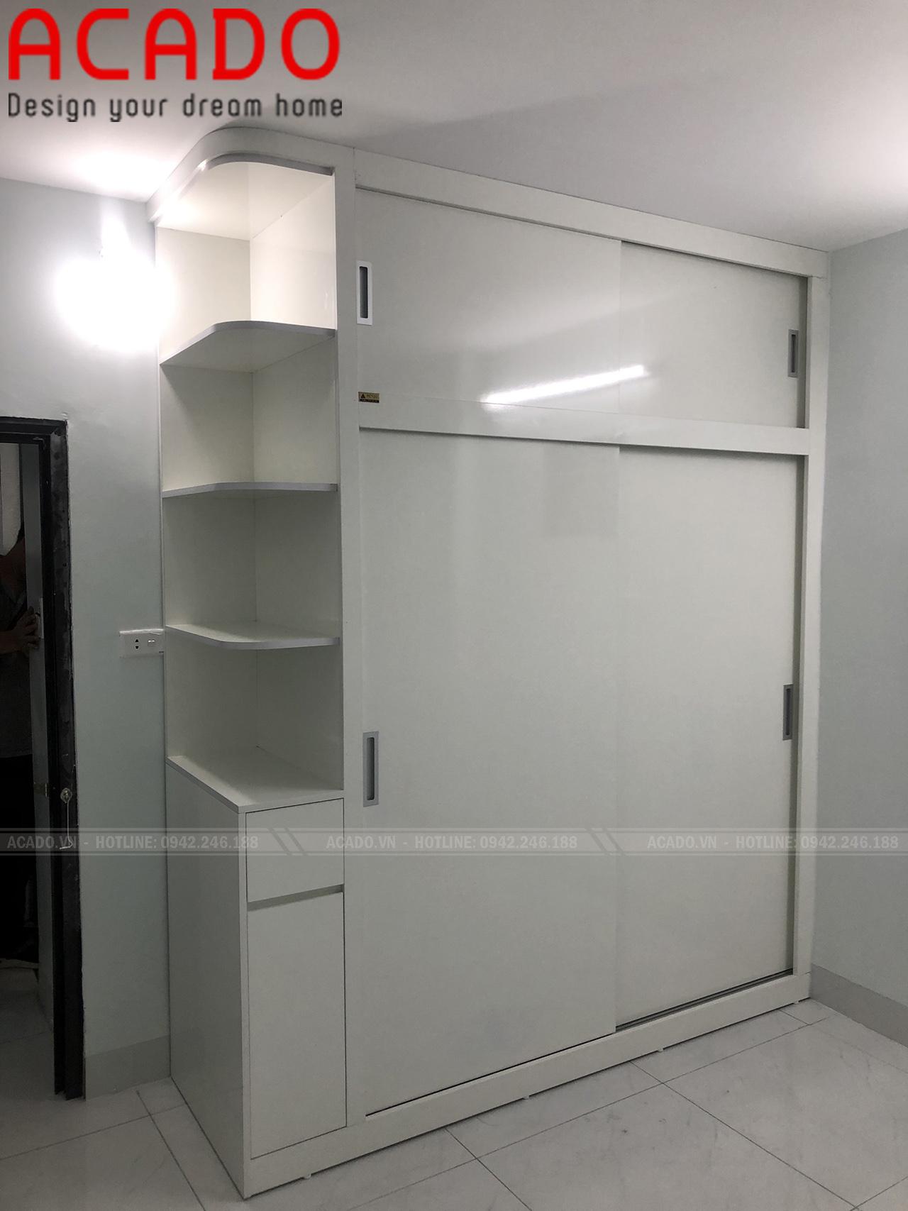 Tủ quần áo hiện đại được ACADO thiết kế, thi công và đã bàn giao cho khách hàng.