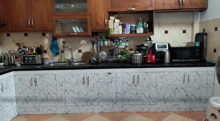 Hoàn thiện lắp đặt tủ bếp cho gia đình anh Hải - Thi công tủ bếp tại Nguyễn Tuân