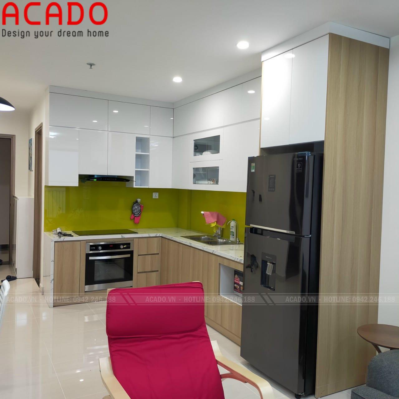 Công trình tủ bếp được thi công tại Ba Vì - Hà Nội, gia đình chị Thương
