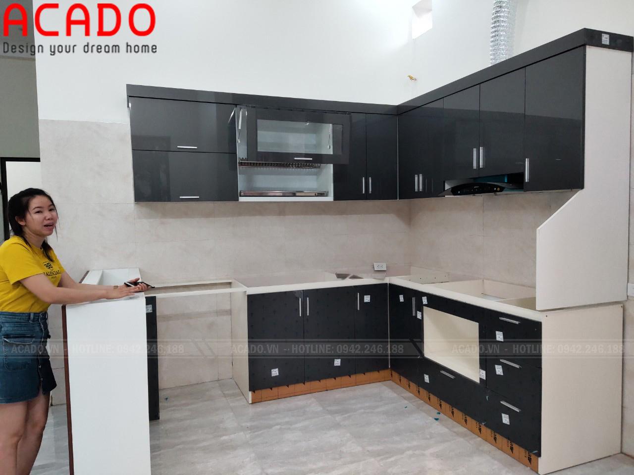 Nội thất ACADO đơn vị chuyên thi công tủ bếp Acrylic