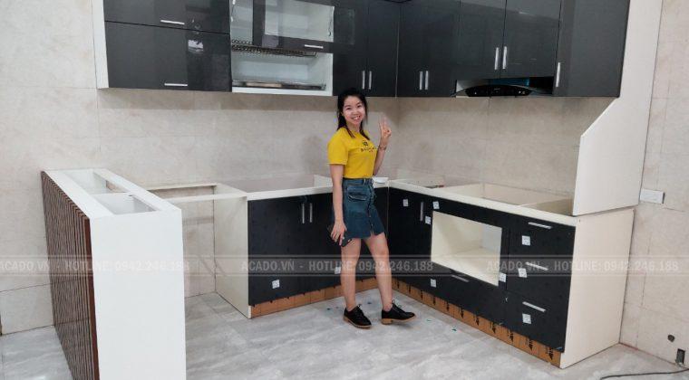 Công trình tủ bếp gia đình chị Hoài đã hoàn thành và bàn giao đúng thời hạn