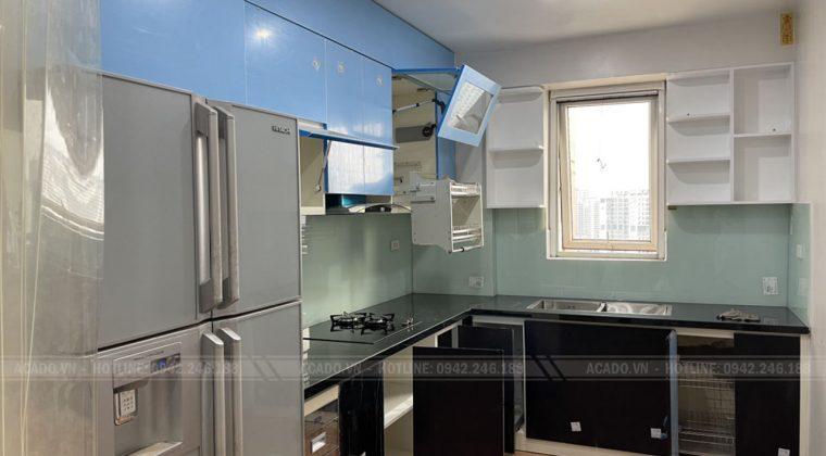 Hoàn thiện thi công tủ bếp và bàn giao công trình cho gia đình chị Hạnh